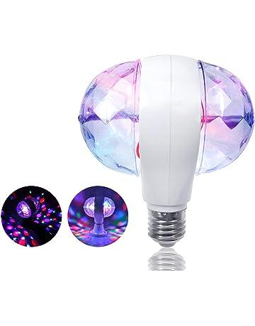ZjRight E27 Mini discoteca Luces Lámparas de Bombilla Auto Rotación LED de color RGB para DJ