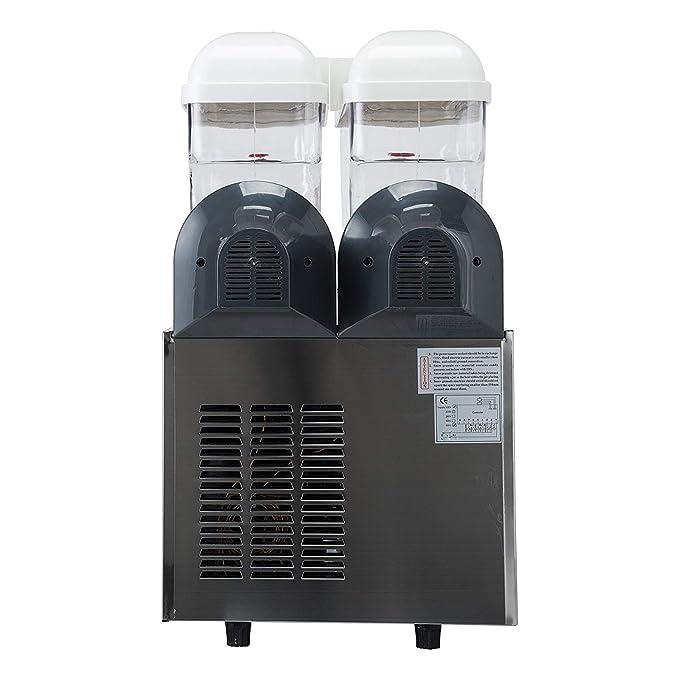 Amazon.com: Kolice Ment to Door Commercial 2x15L Tank Frozen Drink Machine Slush Drink Maker sulsh Machine Frozen Slushie Maker Margarita Summer Drink ...