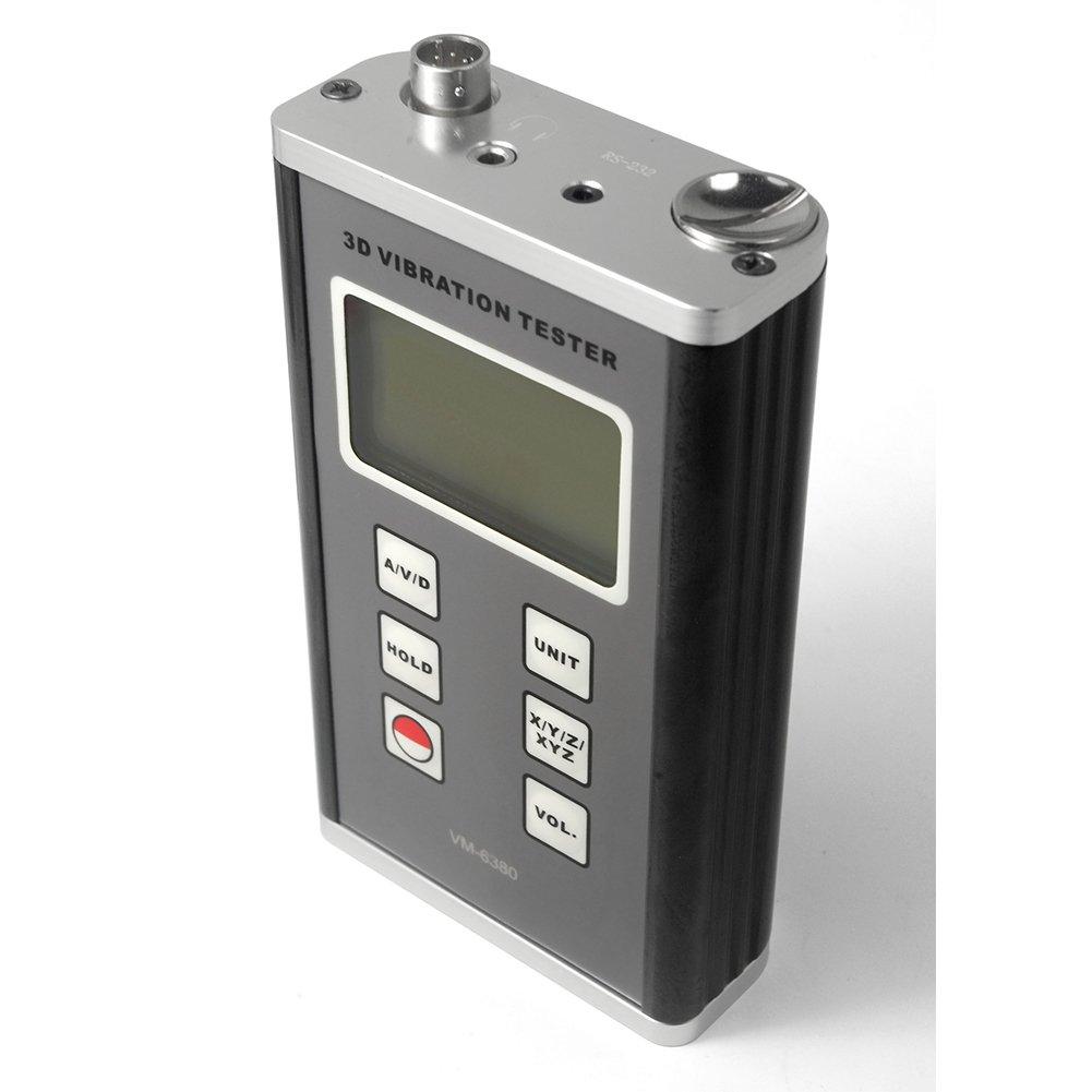 VM-6380 3 Axis Piezoelectric Accelerometer Vibration Meter 3D Velocity Tester Vibrometer Gauge 10Hz~10kHz