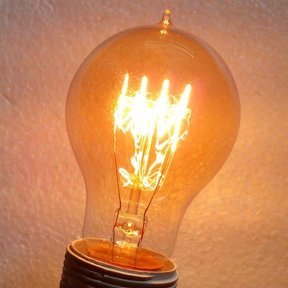 KJLARS 3 x Vintage Edison bombillas E27 60W gotas de agua nost/álgico retro villa la ktv puntas bar bombillas