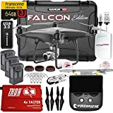 Phantom 4 PRO PLUS + Obsidian Falcon Kit w/ Firebridge 2 Technology Range Extender, Nanuk 950 Wheeled Case, 3 Batteries, Thor Charger, CF Props & Guards, Filters, 64GB Card & More