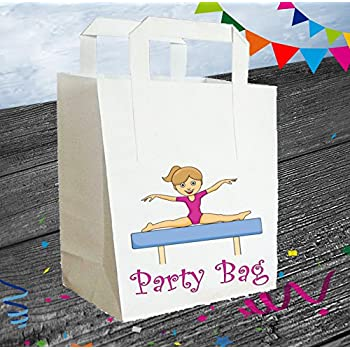 AK Gifts Gymnastics / Girl Gymnast Party Bags / Goody / Loot / Kids (Pack of 6) (7 - 10 BUSINESS DAYS DELIVERY FROM UK)