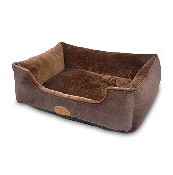 Keraiz - Sofá Cama de Lujo para Perro y sofá para Perro de Color Marrón: Amazon.es: Productos para mascotas
