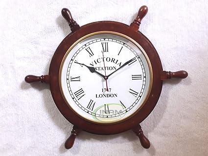 Amazon Com Inam Wonderful Quality Antique Designer Wheel Wall Clock