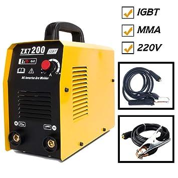 Mini IGBT 200AMP DC Inverter Soldador de arco de metal portátil MMA ...