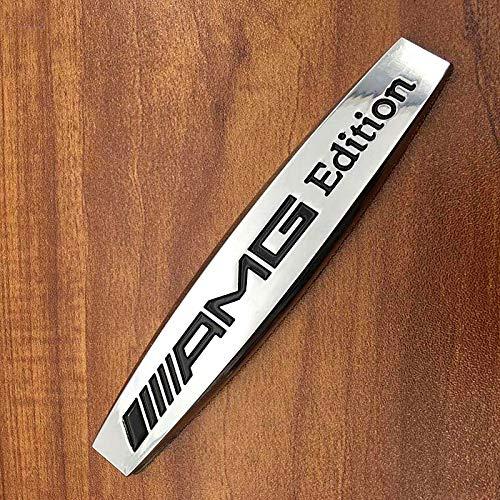 Black Car Emblem Chrome Stickers Decals Badge Labeling for Mercedes Benz AMG