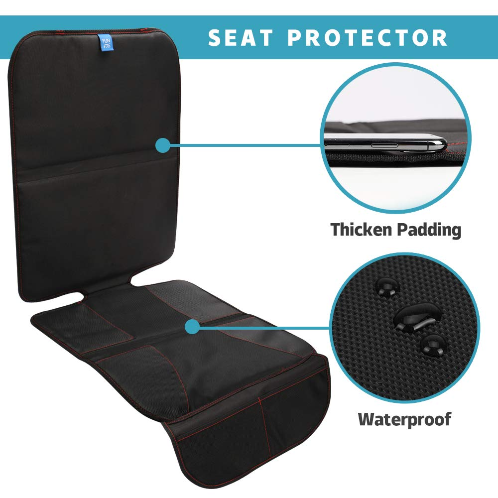 Baby Car Mirror and Rear Facing Car Seat Kick Mat Organizer| Perfect Gift for Baby Shower Car Seat Protector Cover Baby Car Bundle New Infants