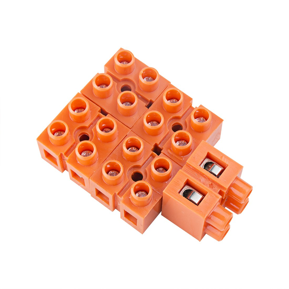 uxcell 600V 36A Dual Row 2 Positions Screw Terminal Electric Barrier Strip Block 5pcs