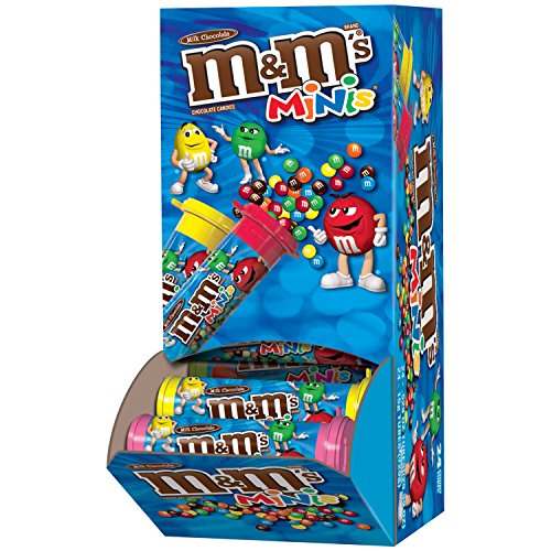 M&M'S Milk Chocolate MINIS Size Candy 1.08-Ounce Tube 24-Count ()