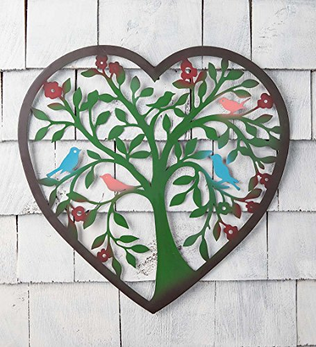Heart Tree Wall Art, - metal tree of life wall decor