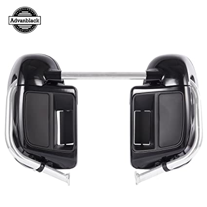 Black Quartz Lower Vented Fairings Fit for Harley Davidson Street Glide Road King 2014 2015 2016