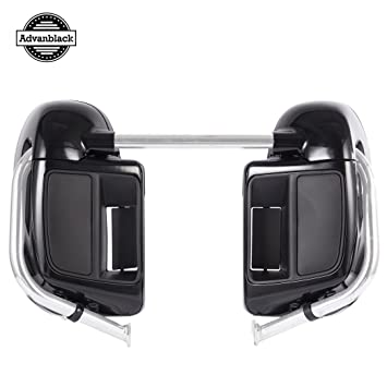 Advanblack Black Quartz Lower Vented Fairings Glove Box Fit for Harley Davidson Street Glide Road King