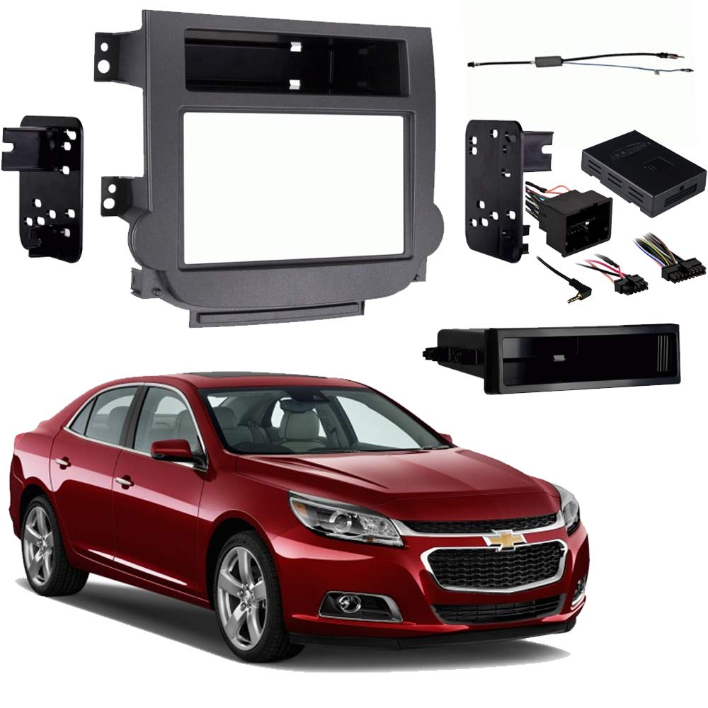 Chevy Malibu 2013-2015 Single or Double DIN Stereo Radio Install Dash Kit