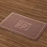And towels thickened water bath mat cotton 7045cm Brown