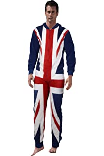 4c7071a4042 LD Outlet Womens Fairisle Onesie Full Length Fleece Onesies Hooded All in One  Jumpsuit Bathrobe Pyjamas