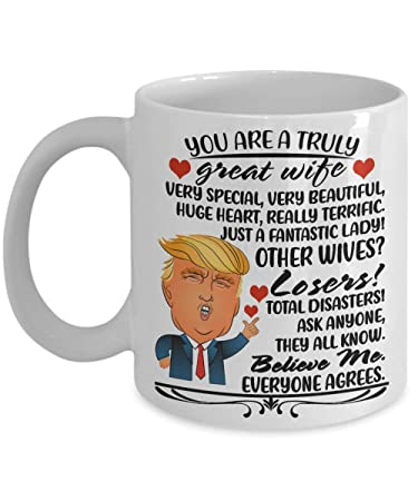 8302f37088fd8 Amazon.com: Funny Donald Trump Gifts for Wife for Thanksgiving Day ...