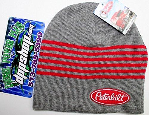 Beanie Diesel (Peterbilt Beanie youth kids child Stocking cap hat toboggan ski diesel gear semi cat cummins)