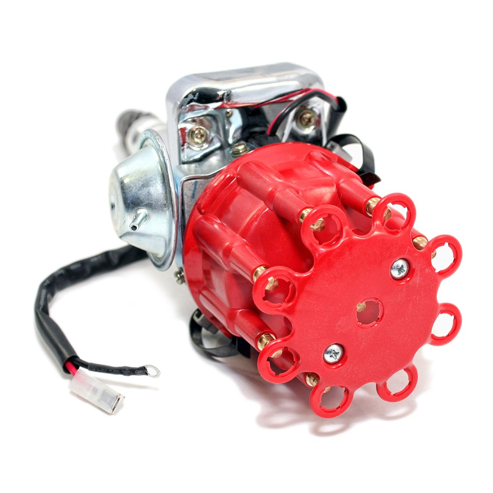 Assault Racing Products 1135011 Chevy V8 Ready To Run 454 Bbc Gm Distributor Coil Wiring Complete Red Cap Electronic Sbc Automotive