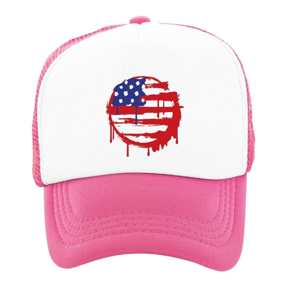 Kids Baseball Cap American Flag Classic Mesh Outdoor Hat
