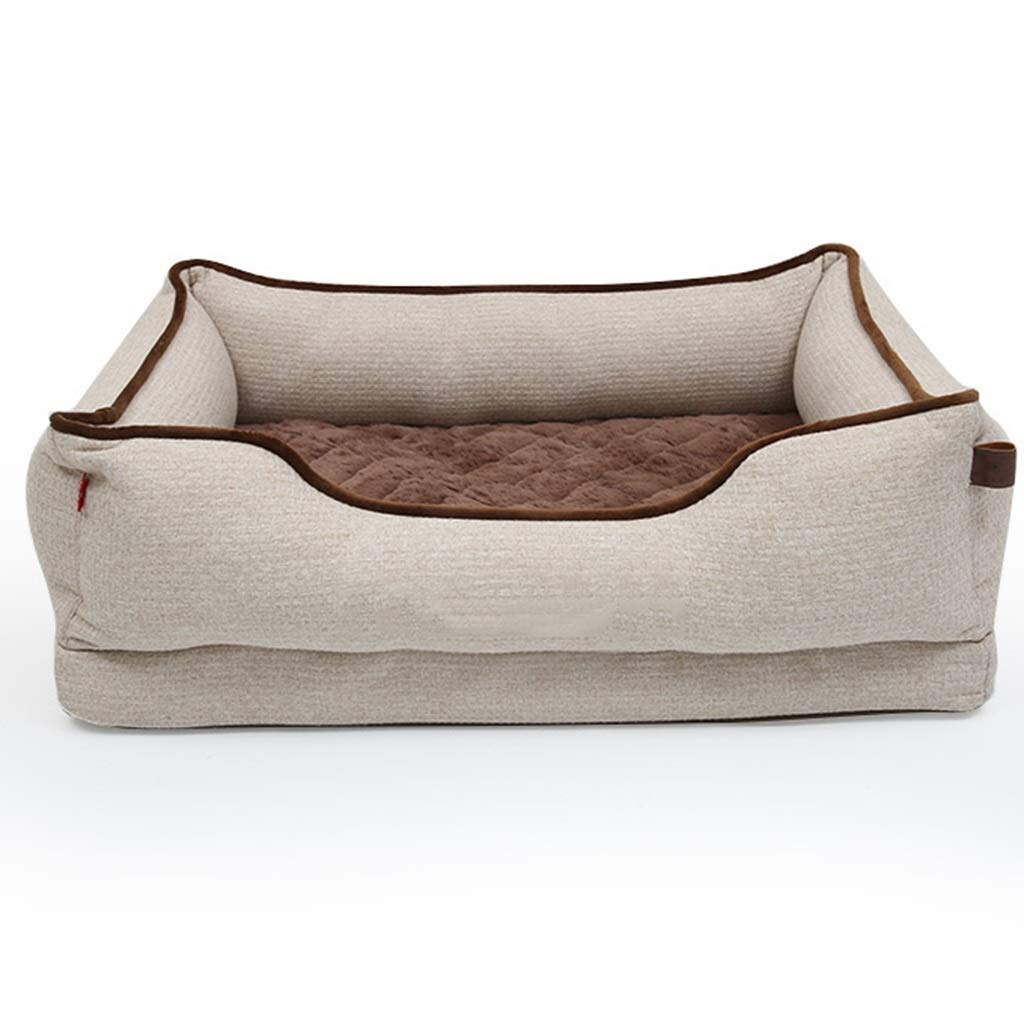 QRFDIAN Kennel small dog removable and washable   dog mattress   puppy dog pet dog supplies   medium-sized four seasons to keep warm in winter