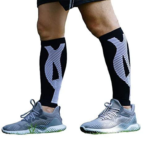0fea16fece Deargles Sport Compression Calf Sleeve Socks One Pair Leg Pain Relief. Men  Women Runners Guards