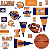 RoomMates RMK1223SCS University of Illinois Peel & Stick Wall Decals