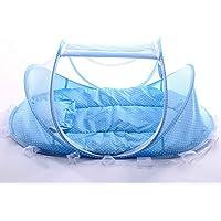 Bébé Voyage Lit Bébé Tente Moustiquaire Moustiquaires pour bébés Pliant portable lit Berceau Portable 0-18 Mois ( Bleu)