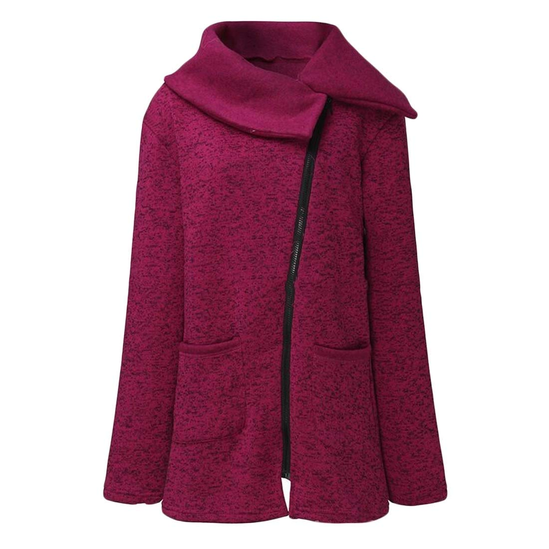 Fubotevic Womens Full Zip Plus Size Fleece Sweatshirts Jacket Coat Outerwear