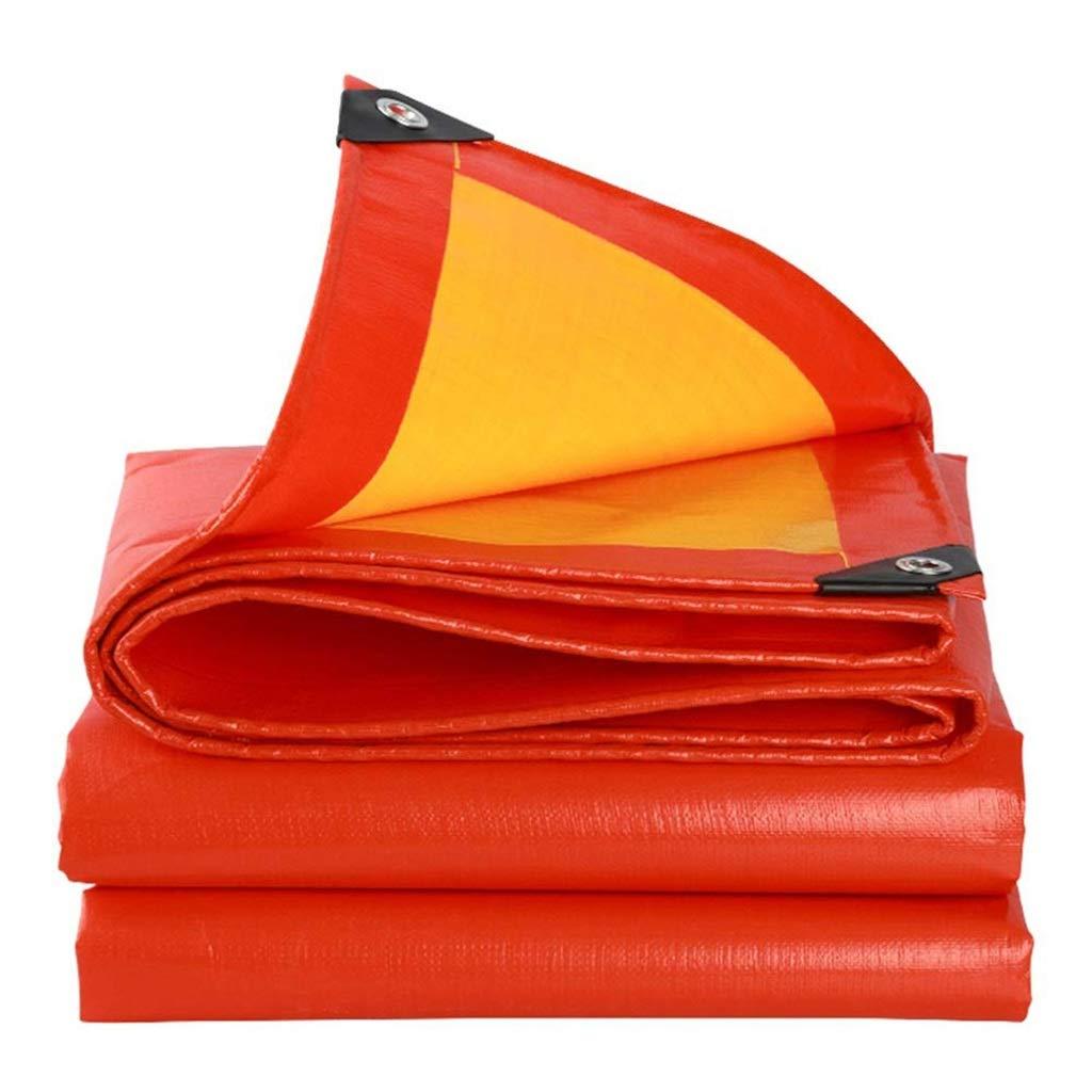 ターポリン 厚いプラスチック防雨防水シート防水日焼け止め防水シートシートシェード絶縁小屋布 - 210 g/m 2 (Size : 6*12m) B07SF529GY  6*12m