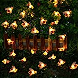 gazebo curtains diy Hot Sale! Hongxin Bee String Lights 20/10 Led Outdoor LEDs Strings Waterproof Garden Patio Fence Gazebo Summer Night Light Decorations Christmas Party Decor Creative Gift (20LED)
