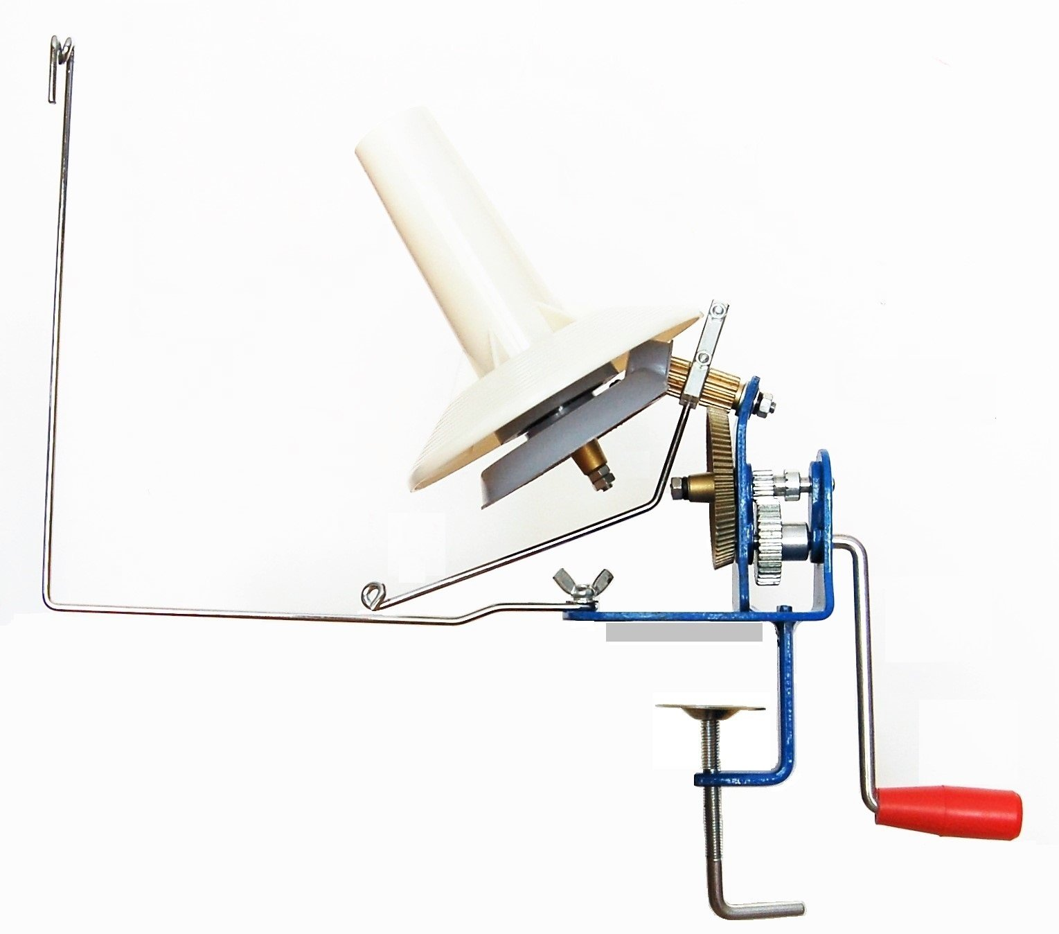 U-nitt Metal Jumbo large yarn/wool/string/fiber ball winder hand operated (high speed) capacity 10 oz MH701