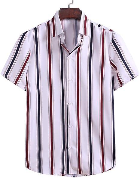 LIXIAOLAN Camisas De Sexo Masculino con Botones De La Blusa ...