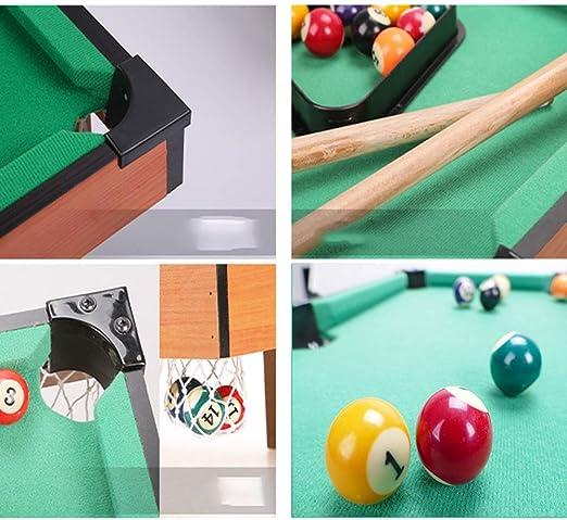 LXHONG Colchoneta Gimnasia Mesa De Billar Juego De Mesa De Billar con 16 Bolas 1 Trípode 1 Chocolate En Polvo Taco 2 Mini Billar Juegos para Padres E Hijos (Color : Green,