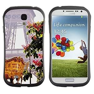 "Pulsar iFace Series Tpu silicona Carcasa Funda Case para SAMSUNG Galaxy S4 IV / i9500 / i9515 / i9505G / SGH-i337 , Torre Eifel Feria de Primavera de Francia"""