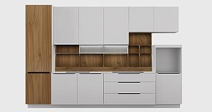 Amazon.com: OPPEIN 360cm Width Standard Kitchen Cabinet with ...
