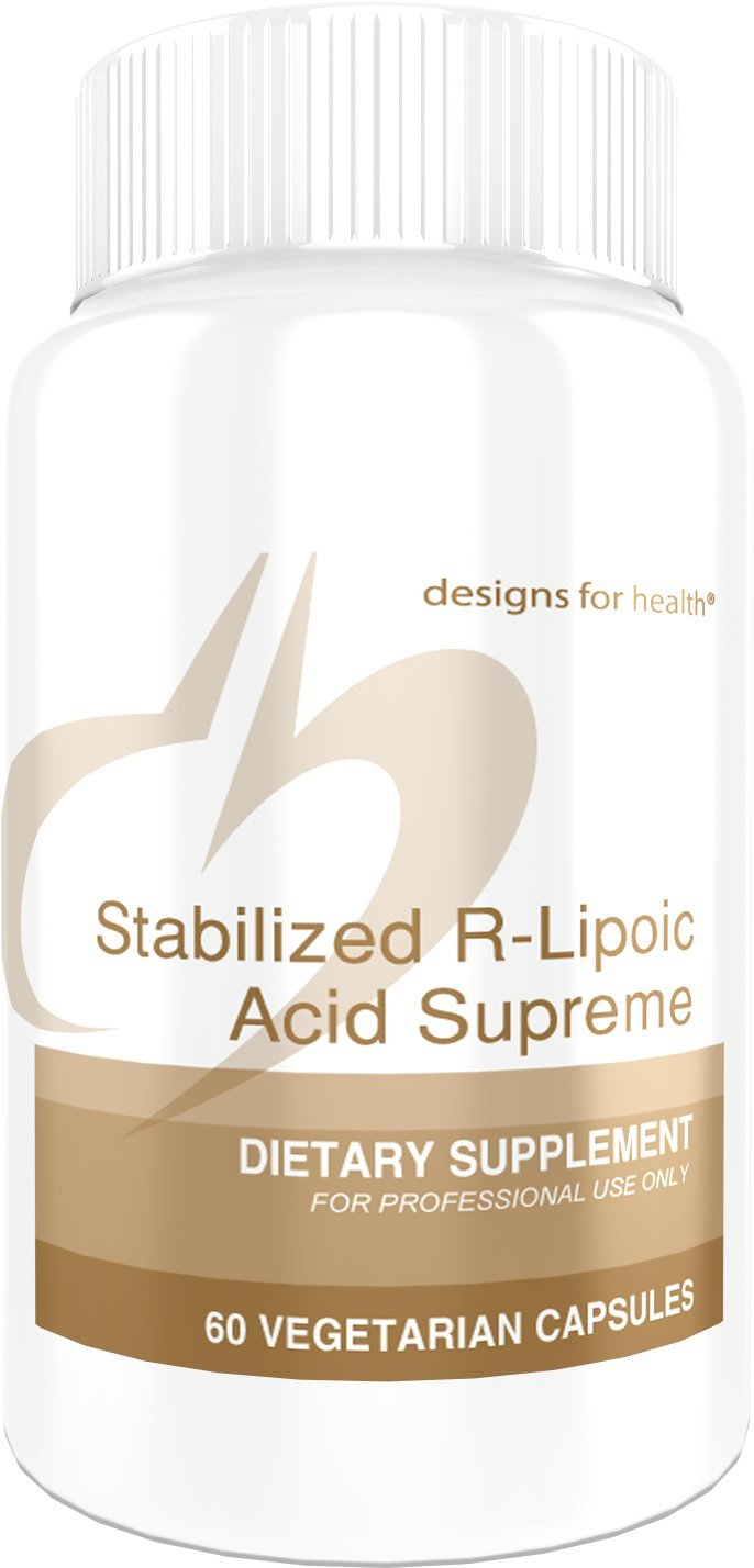 Designs for Health - Stabilized R-Lipoic Acid Supreme - 100mg + 4000mcg Biotin + 500mg Taurine, 60 Capsules by designs for health (Image #1)