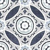 kitchen floor tile  FP2484 Sienna Peel & Stick Tiles Floor Decal Blue