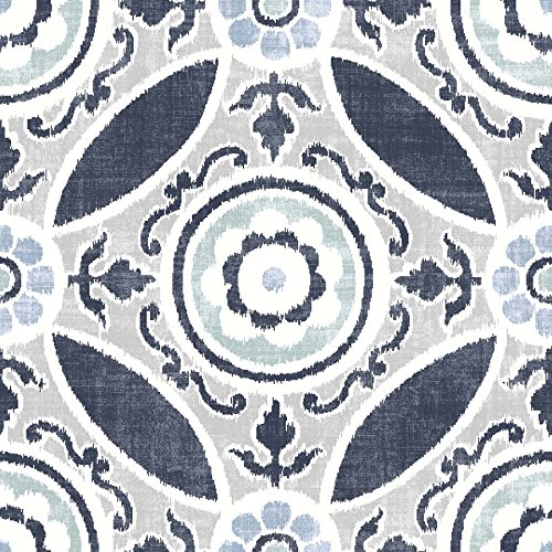 FloorPops FP2484 Sienna Peel & Stick Tiles Floor Decal, Blue