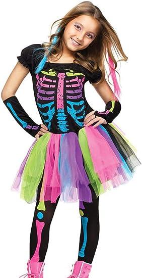 Odziezet Disfraz Halloween Niña Esqueleto 3 Piezas Falda de Tutu ...