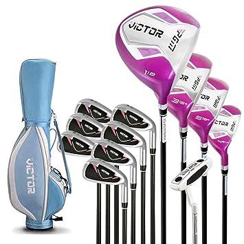 RRDDZZ Juego de 12 Palos de Golf para Mujer Golfistas ...