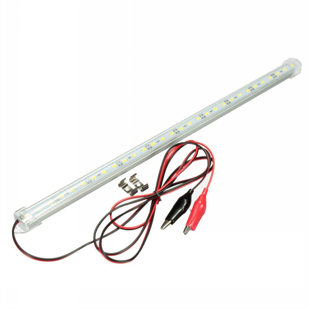 MFPower 12V 30cm Warm White Clear LED 5630 SMD Interior Strip Light For Car Yacht Camper Bar Caravan