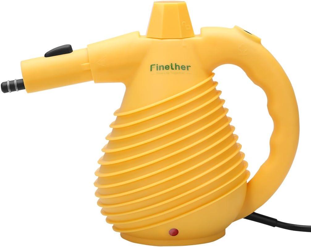 Finether-Limpiador Eléctrico de Vapor de Mano con 12 Accesorios ...
