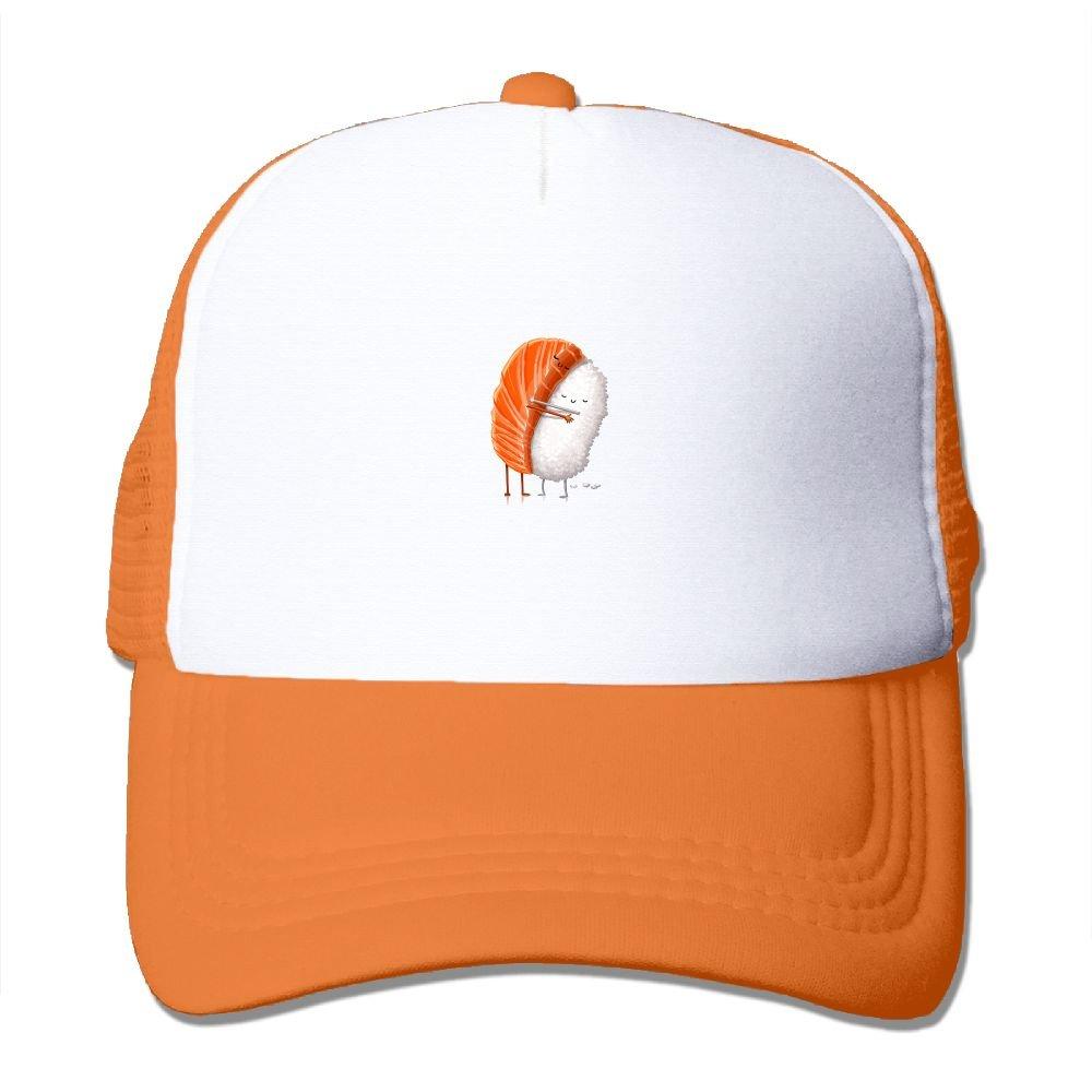 3bd6647b5aedb Amazon.com  HHNYL Loving Sushi Mesh Snapback Trucker Hats Baseball Cap for  Men Women  Clothing