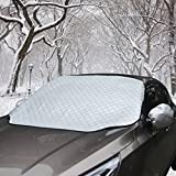 #1: Car Windshield Cover Snow Shield Sunshade with Wiper Protector Keep Ice Frost Snow Off UV Proof Fits Most Trucks, SUVs and Vans (59