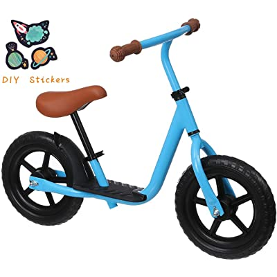 KingSo Kids Balance Bike with Footrest, Lightweight Kids Bike with Freely Adjustable Handlebar & Seat without Tools, EVA Polymer Foam Tire Toddler Bike for 1-5 Years Boys Girls (DIY Stickers Included): Sports & Outdoors
