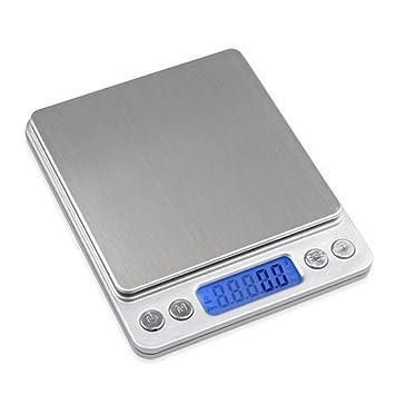 Báscula digital de cocina con carga máxima de 3 kg y precisión de 0,1 gramos: Amazon.es: Hogar