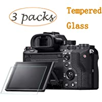 PCTC Screen Protector Compatible for Sony Alpha a7RIII A7R3 A9 A7II A7RII A7SII A77II A99II a7R Mark III 3 a7III Cyber-Shot DSC-RX100 RX100V VI II III IV RX10 Mark III 3 IV 4 Tempered Glass(3 Pack)