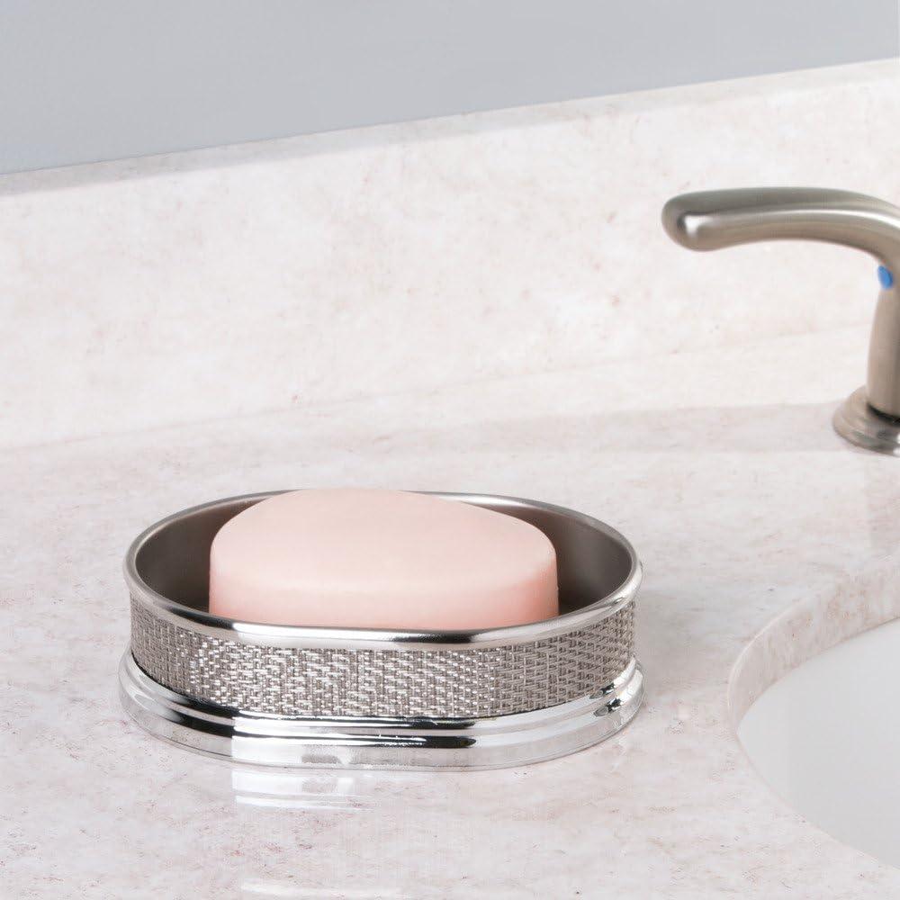 InterDesign Twillo Soap Dish Metallico