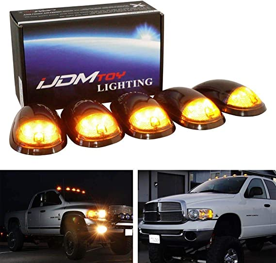 VMS 99-02 FOR DODGE RAM 2500 3500 SMOKE AMBER LED CAB ROOF MARKER LIGHTS SMOKED