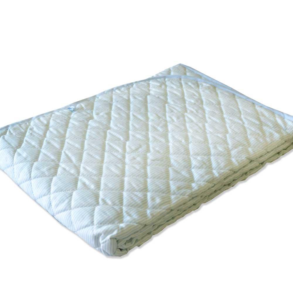 本麻&脱脂綿 涼感敷きパッド 西川リビング シングル (ブルー) B01K1BE6QQ ブルー
